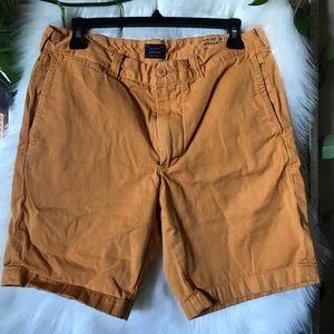 sz 31 mustard yellow J. Crew shorts